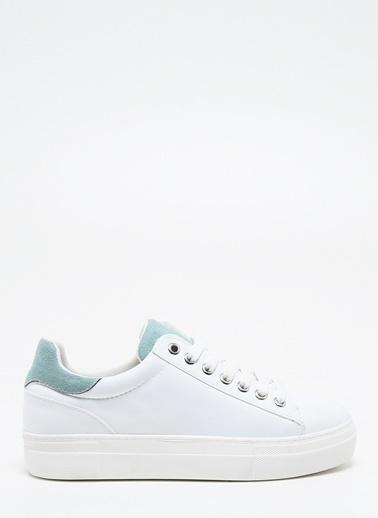 F By Fabrika Kadın Beyaz Sneakers NICOLA Beyaz